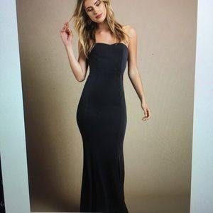 Long navy gown